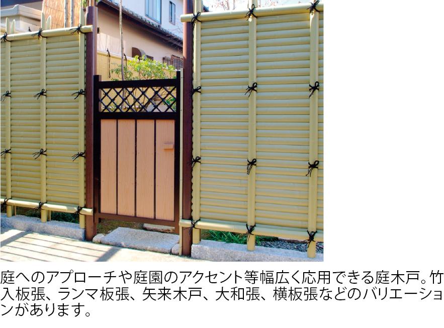 庭木戸・枝折戸・プラカケヒ・縁台・シシオドシ・ヒシャク・井戸蓋