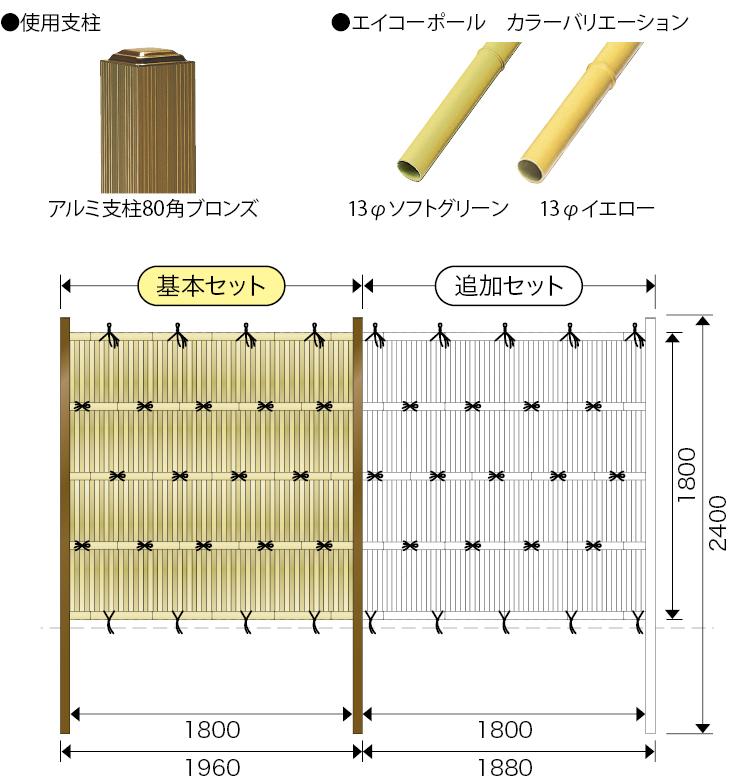 エイコー板垣セット20型 大津垣13 Ⅱ型