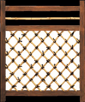 晒竹角矢来木戸Ⅲ型 〈木枠 松〉